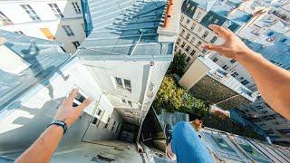 【主観映像】パリの屋上でパルクール