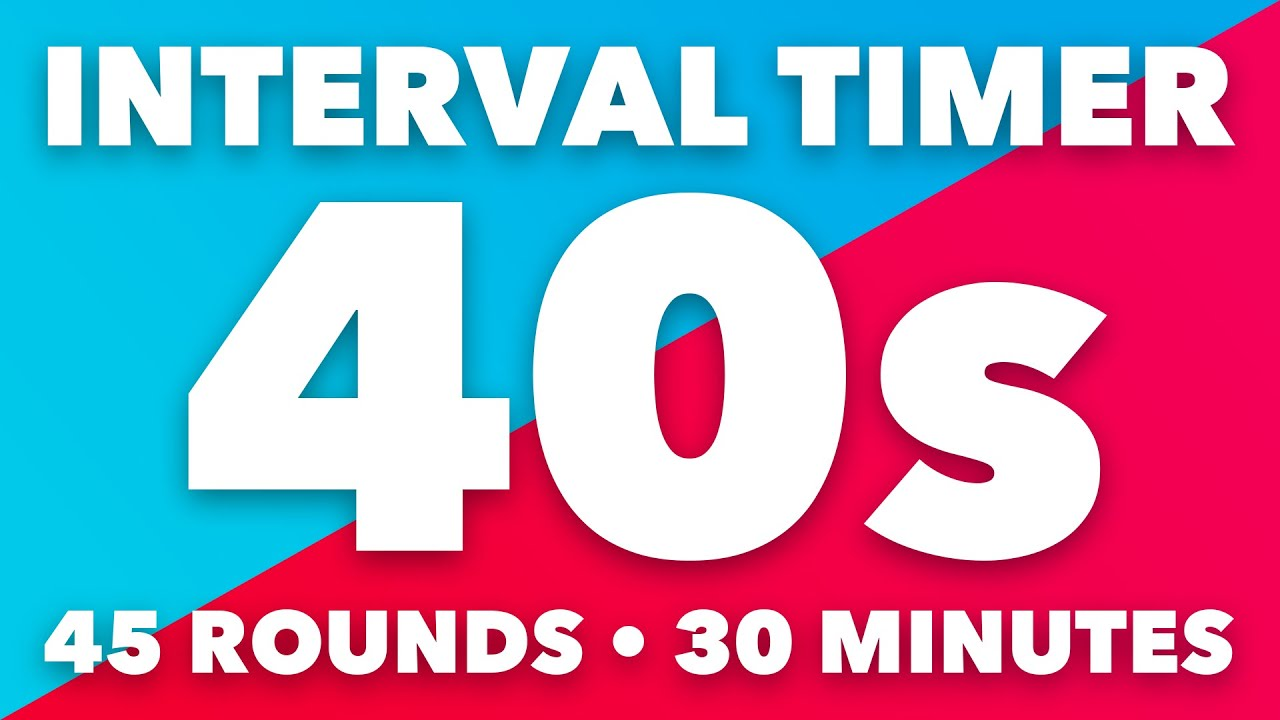 40 Second Interval Timer • 30 Minutes Duration