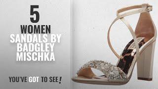 Top 5 Badgley Mischka Women Sandals [2018]: Badgley Mischka Womens Sandra Heeled Sandal, Ivory, 7.5