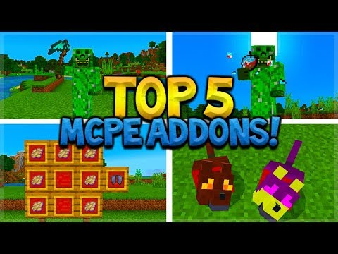 TOP 5 BEST ADDONS For Survival Minecraft Pocket Edition (iOS