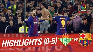 Resumen de Real Betis vs FC Barcelona (0-5)