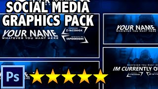 Free Graphics: Twitch / Hitbox livestream template pack #5: