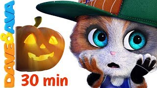 🔥  Five Little Kittens | Halloween Songs | Scary Nursery Rhymes from Dave and Ava 🔥