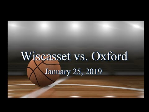 2019 Wiscasset Christian Basketball vs Oxford