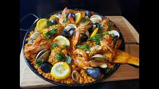 How to make Spanish Paella || Chicken and Seafood Paella w/ Saffron || Pots & Passports Ep.1