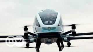 Primeiro drone de passageiros faz voo na China