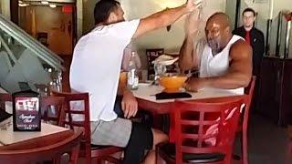 Смотреть онлайн Кличко и Бриггс устроили потасовку в ресторане