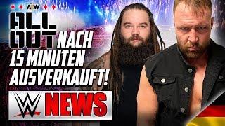 AEW All Out ausverkauft in 15 Minuten!, Bray Wyatt heute bei RAW  | WWE NEWS 49/2019