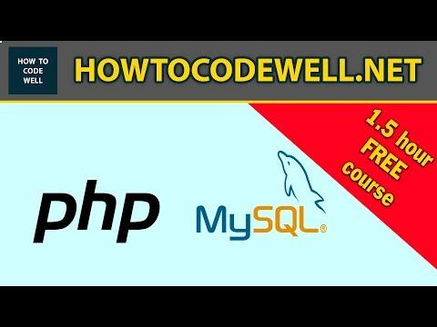 PHP MYSQLi Beginners Full Course - FREE
