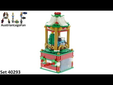 Vidéo LEGO Saisonnier 40293 : Le carrousel de Noël
