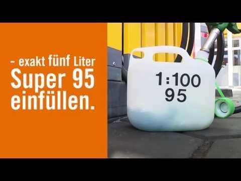 Wieviel wird des Benzins auf 35 km weggehen