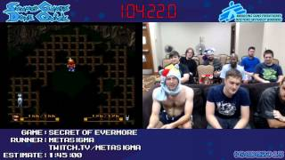Secret of Evermore [SNES] Speed Run in 1:42:06 by MetaSigma #SGDQ 2013