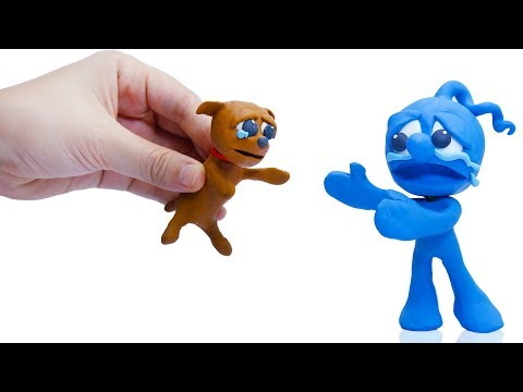 CLAY MIXER: ADOPTING RESCUED DOG 💖 Play Doh Cartoons For Kids