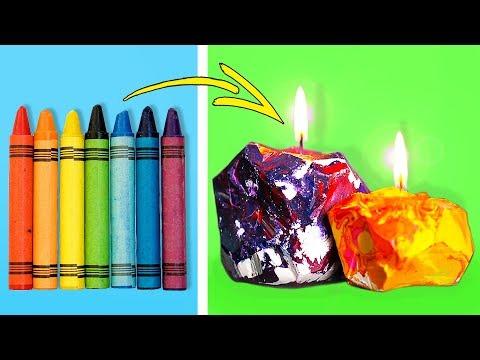 25 Maneras Creativas y Originales de Reutilizar Viejos Crayones