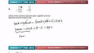 YGS 2013 matematik soru ve çözümleri