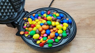EXPERIMENT WAFFLE IRON vs M&M and Skittles