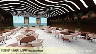Coffee Shop Design  - مجموعة تصاميم كوفي شوب لقسم التصميم الداخلي بجامعة طيبه