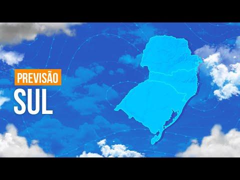 Previsão Sul - Chuva fraca entre o leste de SC e PR