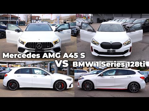 Mercedes AMG A45 S vs BMW 1 Series 128ti 2021 | Which one do you choose ?
