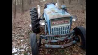 cold start Ford 3000 diesel tractor
