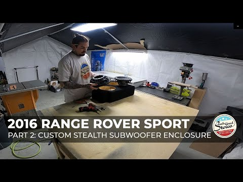 2014-2020 Range Rover Sport Custom Stealth Subwoofer Enclosure