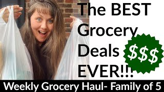 The BEST Grocery Deals EVER!!! Weekly Grocery Haul, Family of 5