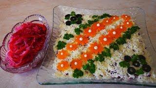 Салат ЖЕНСКИЙ и ОВОЩНОЙ салат ОГОНЁК салаты на праздничный стол Салаты рецепты