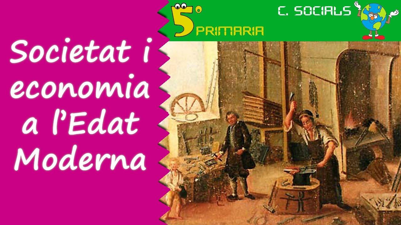Edat moderna, societat i economia. Socials, 5é Primaria, Tema 8
