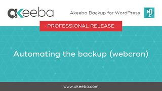 Watch a video on Automating the Backup (WebCron) [05:08]