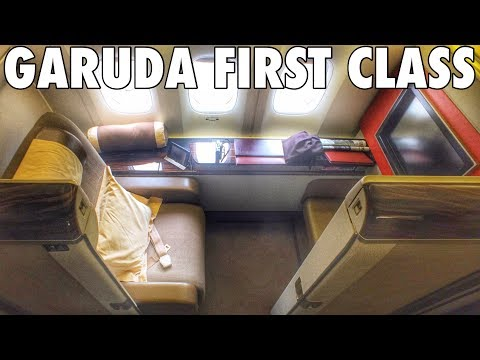 FIRST CLASS On GARUDA INDONESIA