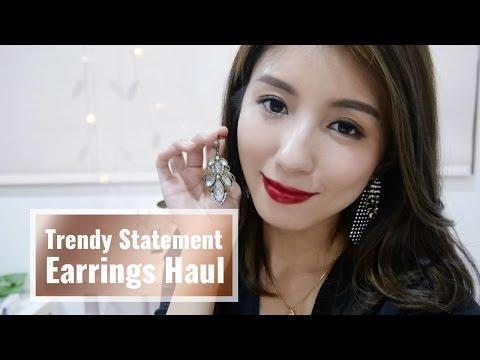 Trendy Statement Earrings Haul