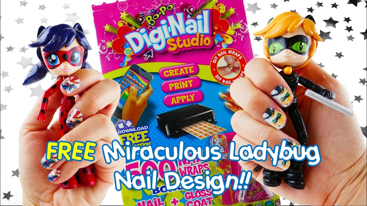 Bo-Po Digi-Nail Studio Nail Wrap with Miraculous Ladybug Nail Design #bopo | Evies Toy House