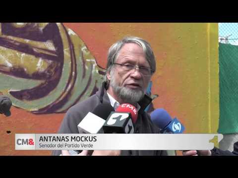 El mural que pinto Antanas Mockus en rechazo a que los civiles se armen