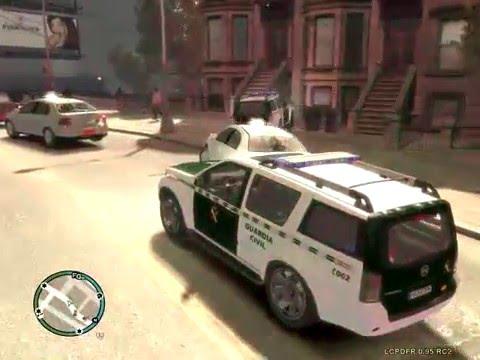 hqdefault - Un nuevo mod para el GTA IV para llevar un coche de la guardia civil