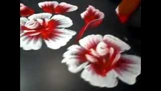 Pintando mais uma bela flor mexicana – Incrível método