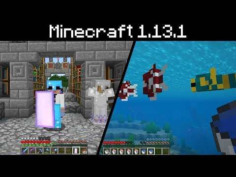 Minecraft 1.13.1 - Bone Meal Drops, Forceload Chunk Command, Named Tropical Fish, Dead Coral