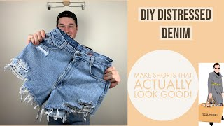 NCI Resale: 15 Minute Tutorial On How To Make DIY Distressed Denim Shorts That Actually Look Good