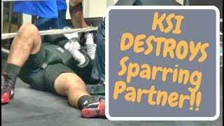 **EXCLUSIVE**- KSI KNOCKS OUT sparring partner preparing for Logan Paul!! Footage Inside!!!