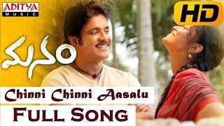 Chinni Chinni Aasalu Full Video Song || Manam Movie || Nagarjuna, Shreya