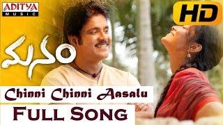 Chinni Chinni Aasalu Full Video Song || Manam Movie || Nagarjuna, Shreya
