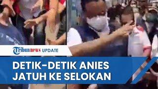 Viral Video Anies Baswedan Terperosok ke Selokan saat Asyik Sapa Warga Koja, Masyarakat Dibuat Syok
