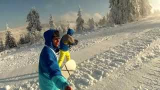 preview picture of video 'Bajor i Beny . Szczyrk - Golgota 26.01.2014 GoPro'