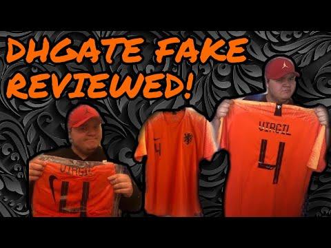 DHGATE FAKE Cheap Nike football shirt Holland🇳🇱Virgil Van Dijk Jersey Review (unboxing/unbagging)