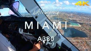 MIAMI | A380 LANDING 4K