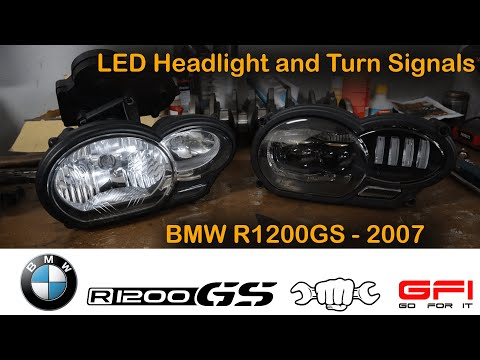 BMW R1200GS 2007 LED Headlight and Turn Signals