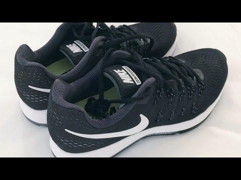 9a4dbf53de97 Nike Air Zoom Pegasus 33 Black Cool Grey Wolf Grey White Running Shoe 4K  play
