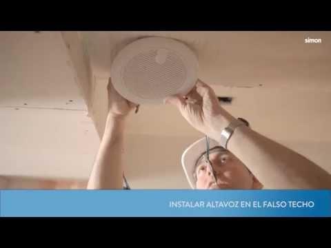 Instalación del altavoz de techo Simon