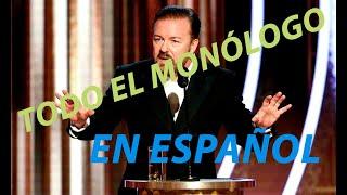 Ricky Gervais, todo el monólogo - Golden Globes 2020 (Subtitulado Español)
