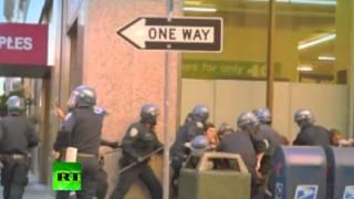 Полиция против антиглобалистов в США (ВИДЕО)