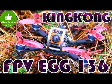 ✔ Обзор идеального FPV Квадрокоптера KiNGKONG FPV EGG 136mm! Banggood!